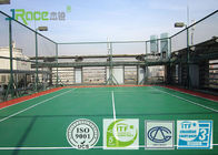Basketball Sport Court Surface Plastic Coating PU Rubber Material , Seamless Design