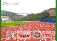 Red Track And Field Sports Flooring Solvent Free With 3-8mm Thickness