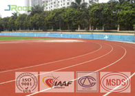 13mm Track And Field Surface , Rubberized Track Surface Customized Color