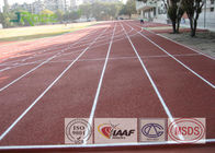Polyurethane Resin Olympic Running Track , Tartan Track And Field Anti Cracking