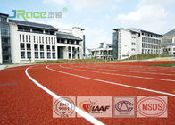 Customized 15 Mm Jogging Track Flooring PU Athletic Track 2.2 Mm Vertical Deformation