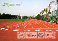 Rubber Material Polyurethane Track Surface , Painting Synthetic Running Track For Stadium