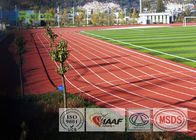 Multifunctional Outdoor Running Track Flooring , Rubber Athletic Track For Arena