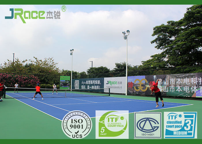 Synthetic Silicone PU Sport Court Flooring Non Toxic For Volleyball Play