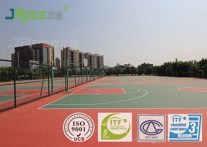 Weather Resistant Sport Court Surface With Environmental Materials