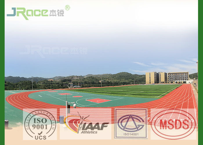 Sandwich Spray Coat Synthetic Athletic Track Surface , Prefabricated Rubber Running Track