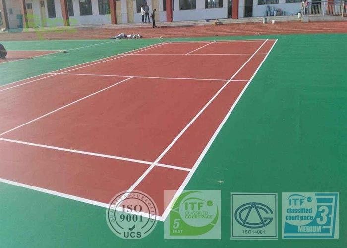 Badminton Sports Court Surface Flooring High Cushion Against Cigarette Burns