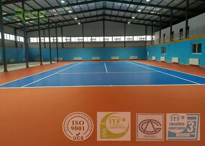 Professional Outdoor Acrylic Tennis Court Surface 2-7 Mm Thickness Customized