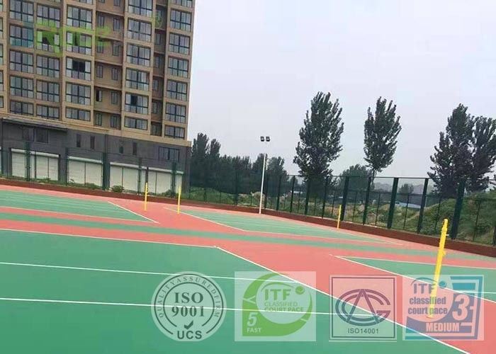 Low - Density Rubber Basketball Court Sport Surface For Indoor Stadium 4MM Thickness