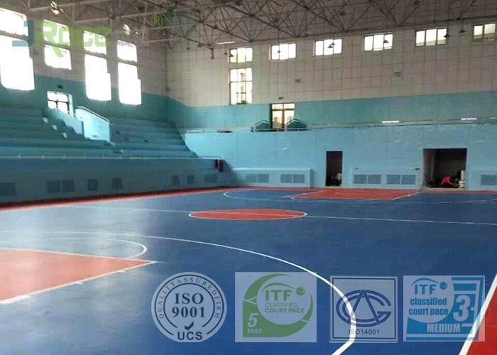 Outdoor Removable Multifunctional Sport Court Flooring Customized High Wearing Resistance