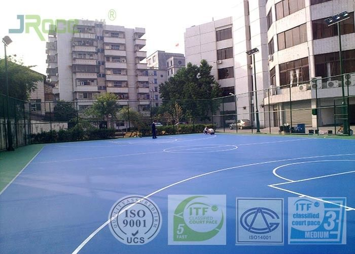 Silicon PU Outdoor Sports Field Surfacing Latest Technology For High School