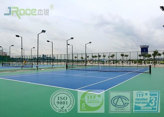 Indoor / Outdoor Acrylic Tennis Court Flooring Materials Seamless Design