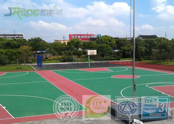 One Component Polyurethane Outdoor Sports Flooring , Badminton Court Surface