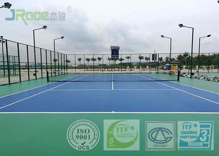 Outdoor Rubber Sports Flooring , Tennis Court Flooring Material Wear Resistance