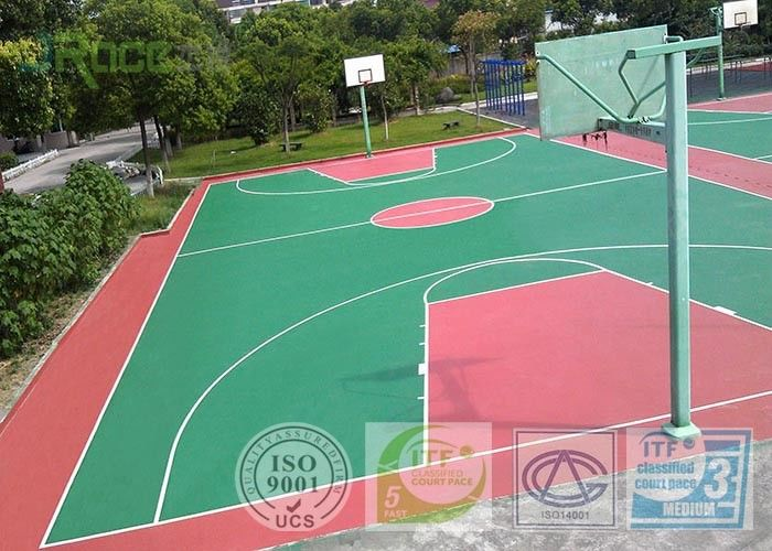 Indoor Multifunctional Sport Court Flooring For School Gym Basketball Court