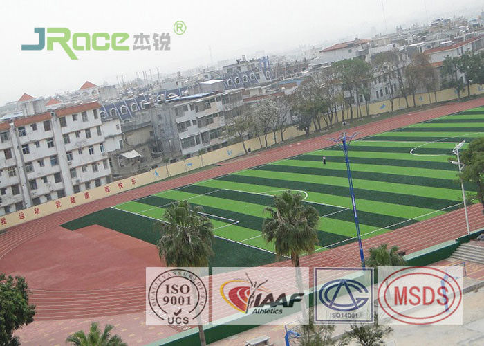 Full Pur Jogging Track Flooring Outdoor Sport Surface Weather Resistant