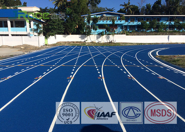 Full Pour Colored Epdm Rubber Granules Flooring , All Weather Running Track