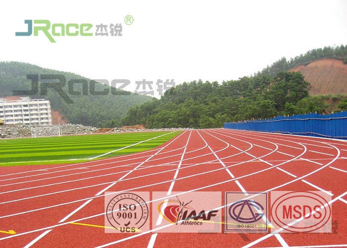Indoor Athletics Track Surface , All Weather Running Track In High School