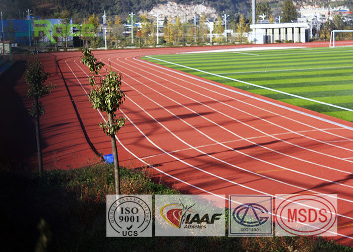 Outdoor Sport Polyurethane Track Surface , Rubber Track And Field Spike Resistant