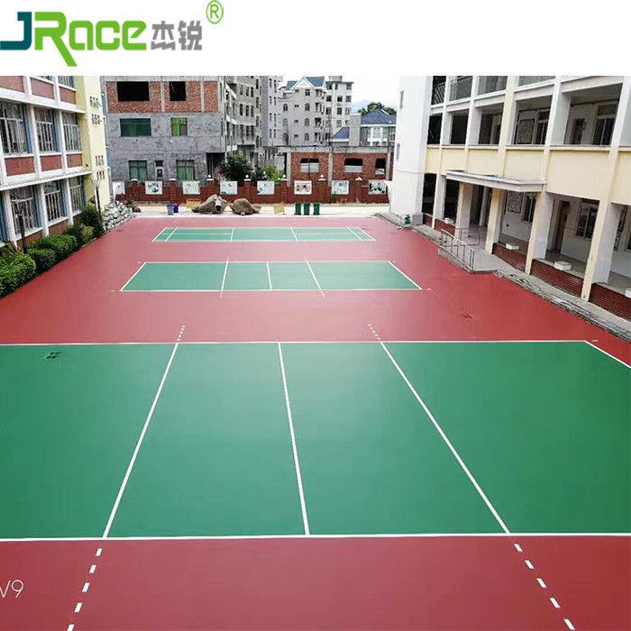 Synthetic Silicon PU Material Outdoor Sports Flooring For Volleyball Court Multi-  functional