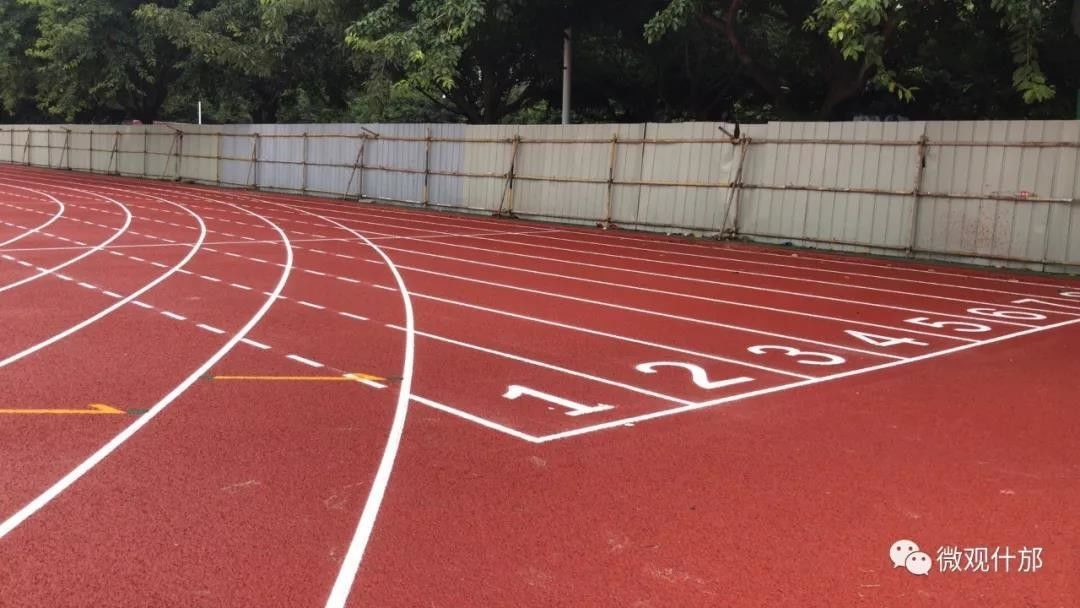 Dark Red Color Sandwiched Athletics Running Track With 19mm Thickness IAAF Certified