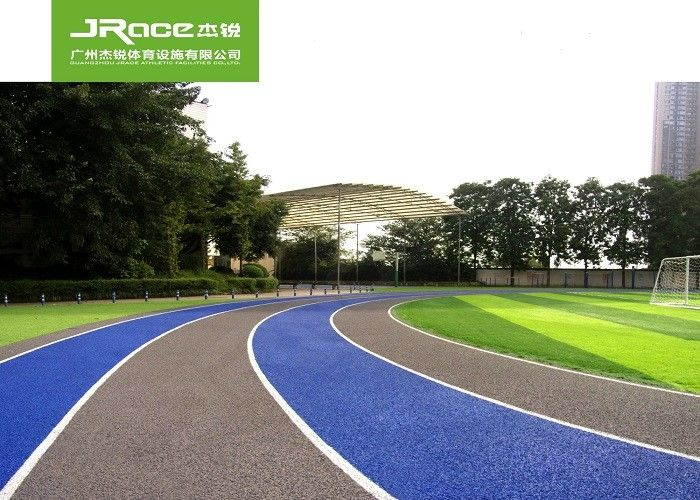 CS Carbon Structure Running Track And Field Surface With Olympic Blue Color