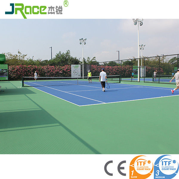 Environmental material outdoor tennis court surfaces For School / Backyard