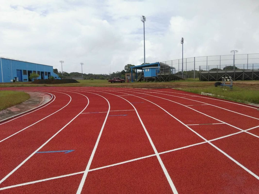 Durable Red Seamless Polyurethane Track Surface / Synthetic Running Track