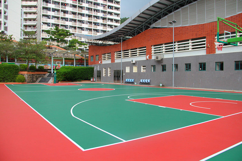 8MM Thickness Multifunctional Sport Court For School With Good Shock Absorption